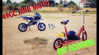 49cc Mini Bike vs DIY Motorized Scooter