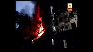Fire at a factory of plastic in Tangra, 5 engines of fire department have gone there