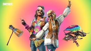 * NEU* HIPPIE SKINS [FAR OUT MAN & TIE DYE GLIDER] GAMEPLAY TONIGHT! (Fortnite Battle Royale)