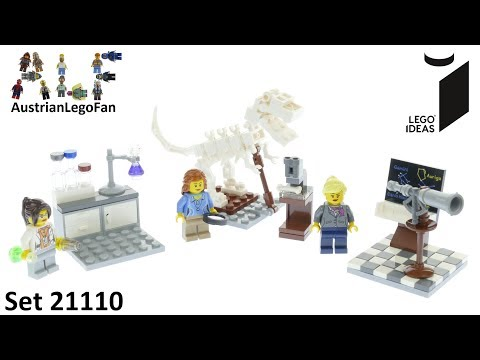 Thumbnail: Lego Ideas 21110 Research Institute - Lego Speed Build Review