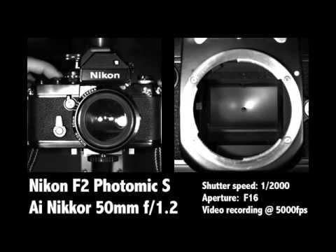 Nikon F2 Photomic S - Slow motion video