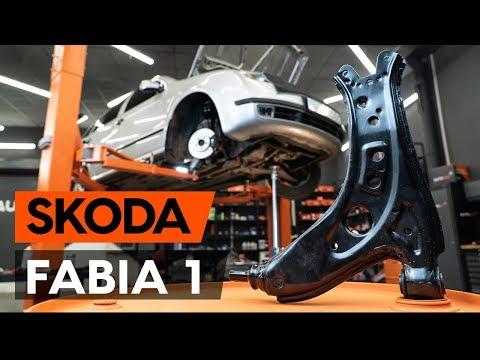 Как заменить передний нижний рычаг подвески SKODA FABIA 1 (6Y5) [ВИДЕОУРОК AUTODOC]