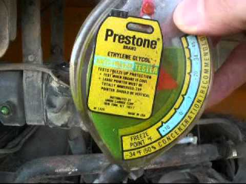 How To Check Antifreeze >> Coolant Testing on the Buses - YouTube