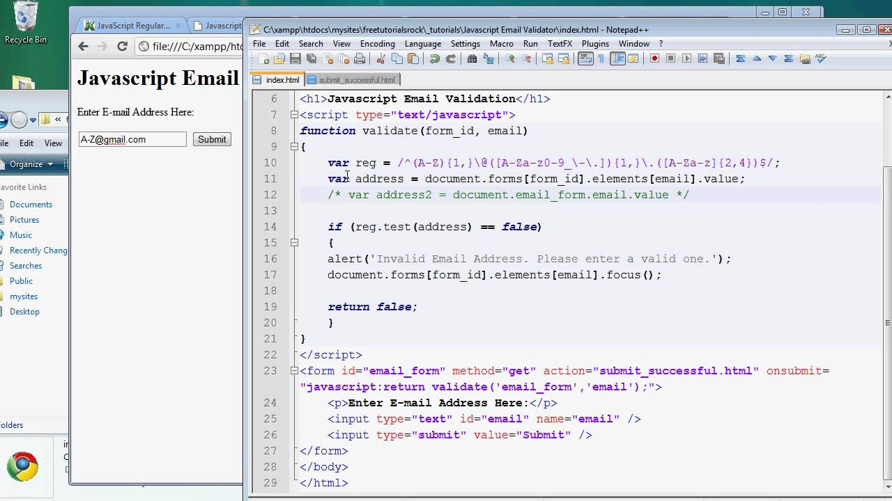 Validating email address in javascript what is a number