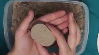 ASMR - Kinetic Sand - Smoothing, Making Shapes, Digging and Whispers
