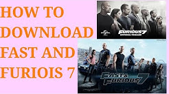 HOW TO DOWNLOAD FAST AND FURIOUS 7 IN DUAL AUDIO || HINDI + ENGLISH