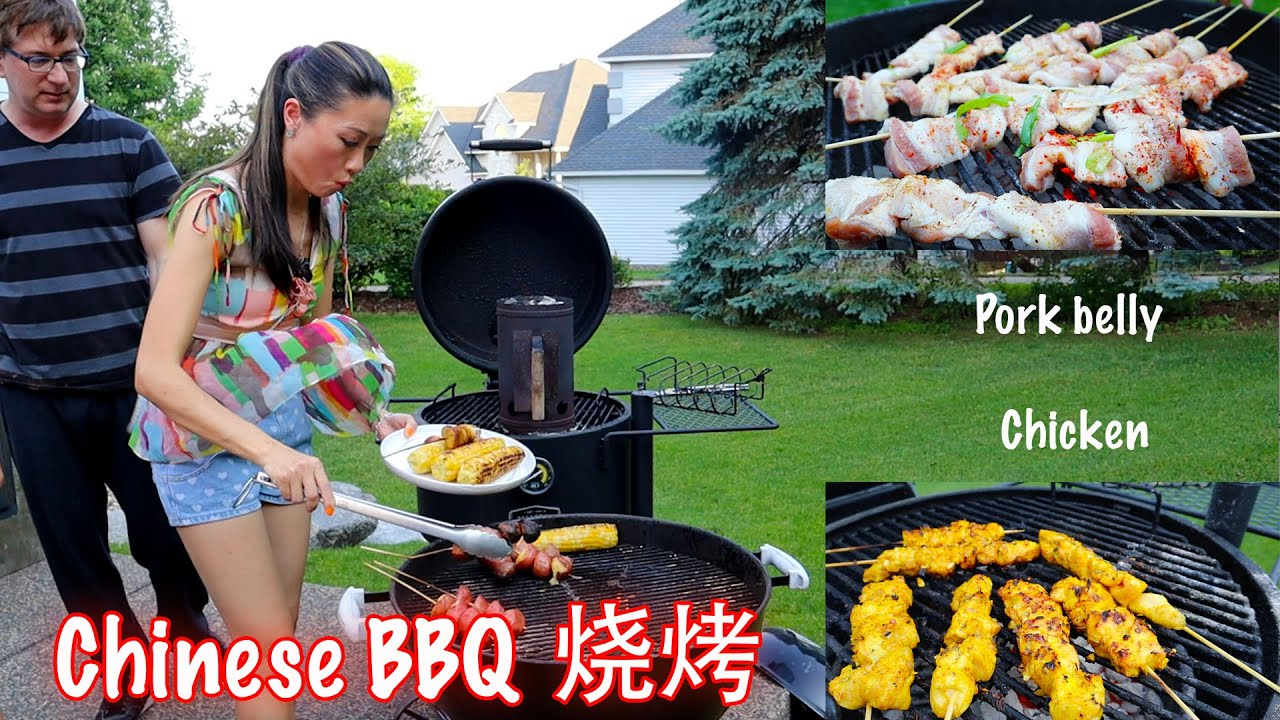 Chinese BBQ in Backyard with my circus-something happened unexpected😆后院烧烤