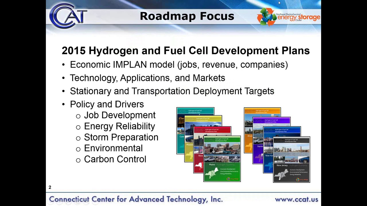 Hydrogen Fuel Cell Development Plans for the Northeastern States (5 4 2015)