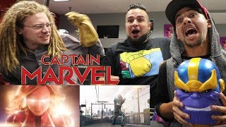 Reacting to Marvel Studios' Captain Marvel - Official Trailer! CAPTAIN MARVEL TRAILER REACTION!
