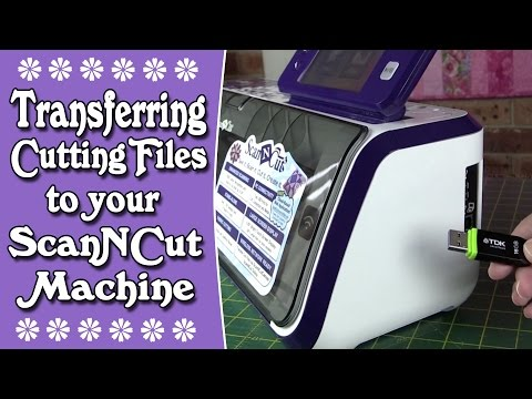 Brother Scan n Cut Tutorial: Transferring Cutting Files from the Internet to ScanNCut Machine