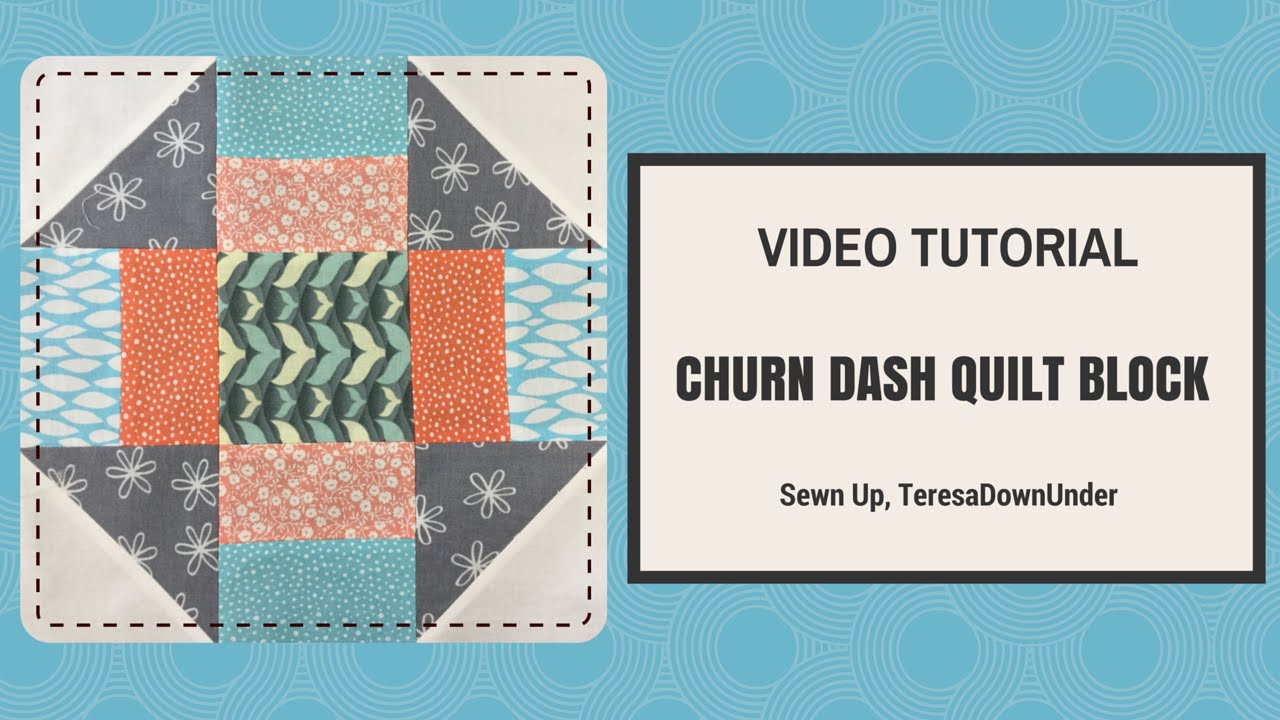 Quick and easy churn dash quilt block video tutorial - YouTube : churn dash quilt block - Adamdwight.com