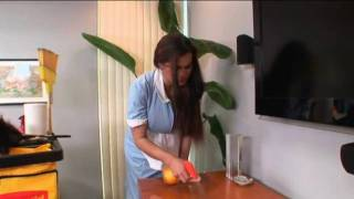 Repeat youtube video hot house maid undoing her shirt showing her breasts