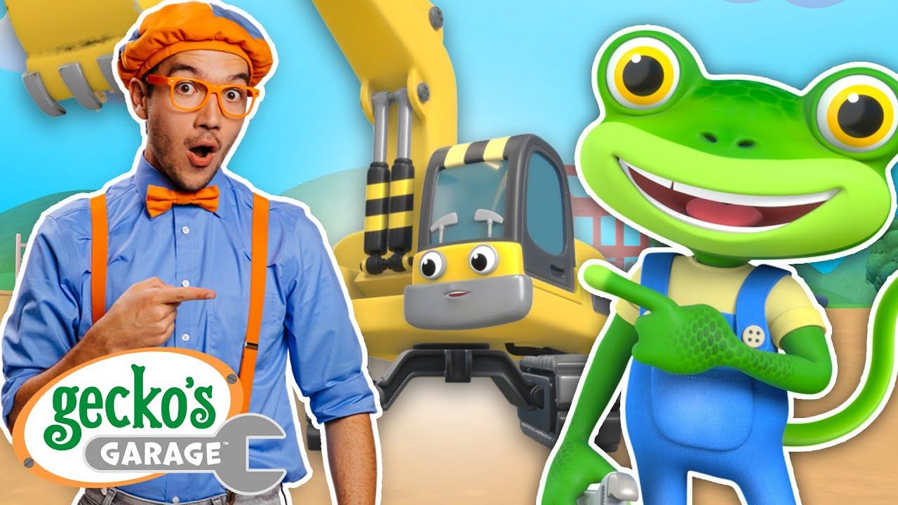Gecko & Blippi Dance Party | Excavator Song ft. @Blippi - Educational Videos for Kids | Kids Songs