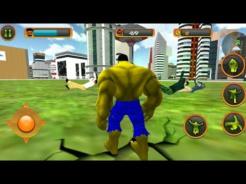 ► Monster Hulk Parkour With His Green Car | Incredible Monster Hero City Battle Rescue Mission