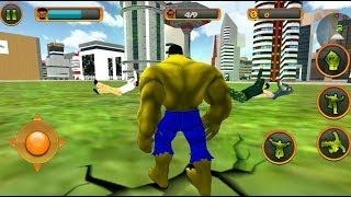 ► Monster Hulk Parkour With His Green Car   Incredible Monster Hero City Battle Rescue Mission