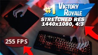 PLAYING FORTNITE STRETCHED (SOLO WIN) + KEYBOARD CAM (Fortnite Battle Royale)