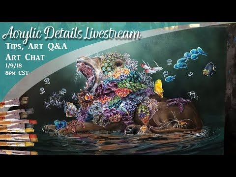 Acrylic Painting Final Details + Art Chat Live – Lachri