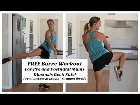 free 15 min barre workout for pre and postnatal mums which