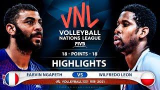 France vs Poland | VNL 2021 | Highlights | Earvin Ngapeth vs Wilfredo Leon