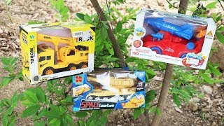 Review Toy Car   Crane Truck  Tank military vehicle rocket    Car Toy for kids