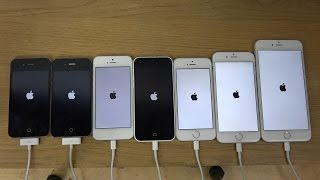 iPhone 6 Plus vs 6 vs 5S vs 5C vs 5 vs 4S vs 4 - Which Is Faster 4K
