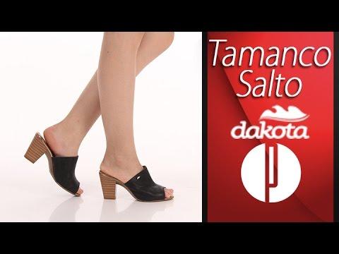 3e7d686390 Tamanco Salto Feminino Dakota - 6000567112 - YouTube