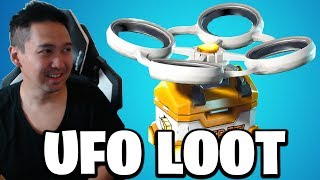 Is there UFO in Fortnite that gives FREE LOOT!? 🤣