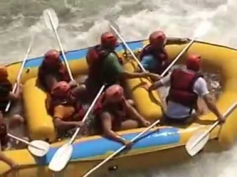 Rafting the Zambezi River at low water in Sept 2009
