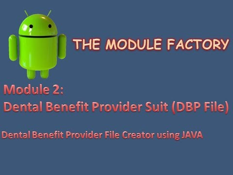 Dental Benefit Provider Flat file tool example (dbp)