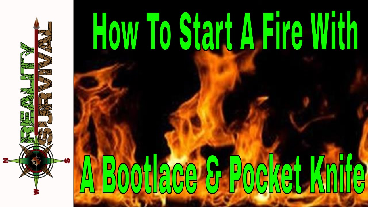 how to start a fire with a bootlace pocket knife youtube. Black Bedroom Furniture Sets. Home Design Ideas
