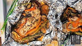 BBQ Grilled Chicken & Veggies - A Healthy BBQ Chicken Recipe!