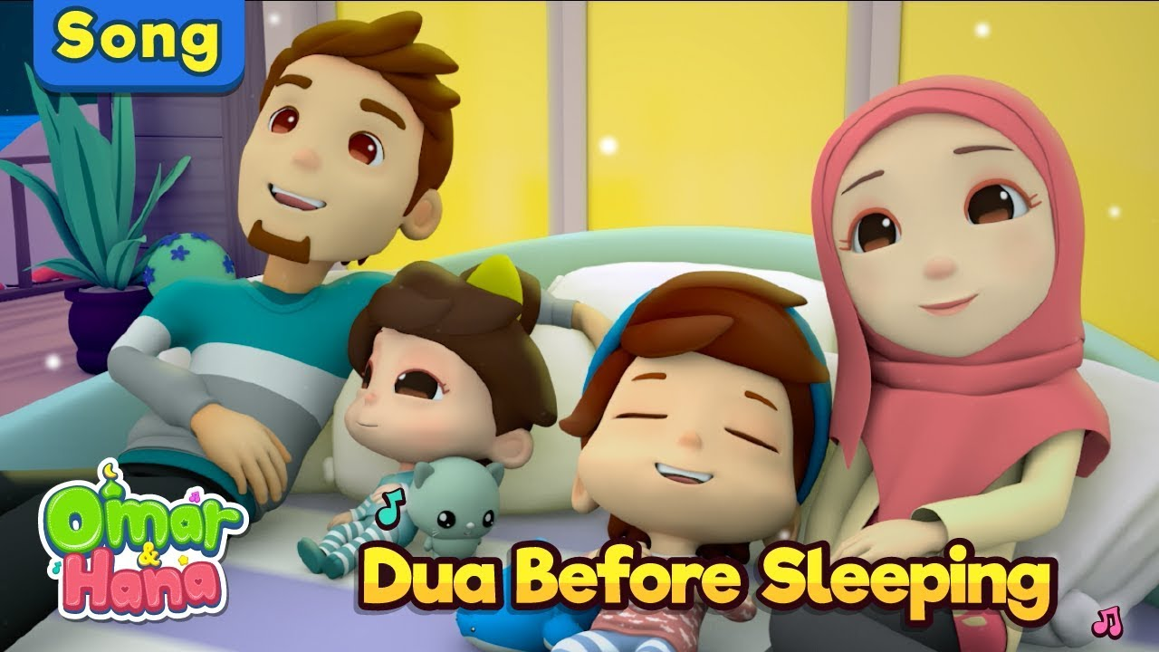 Omar & Hana | Dua Before Sleeping | Islamic Songs for Kids | Nasheed