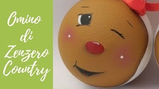 Tutorial: Omino di zenzero in stile country (gingerbread country-christmas decorations)