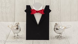 Black&White Anzug/Frack-Karte mit Stampin'Up!®