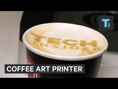 Coffee art printer