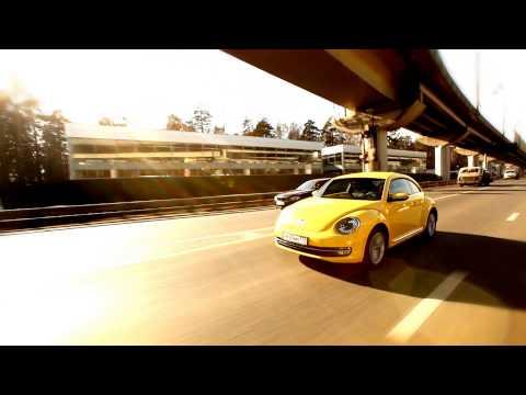 "New Volkswagen Beetle 2014 : Тест-драйв в программе ""Москва рулит""."