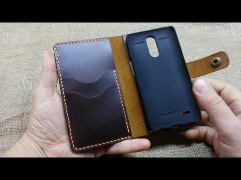 Чехол-портмоне для телефона из натуральной кожи с эффектом Pull-up