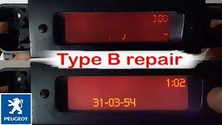 Ремонт дисплея пежо тип Б/Repair of peugeot display type B