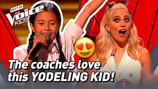 10-Year-Old Rachel sings a YODEL SONG in The Voice Kids! 🤩 | The Voice Stage #59