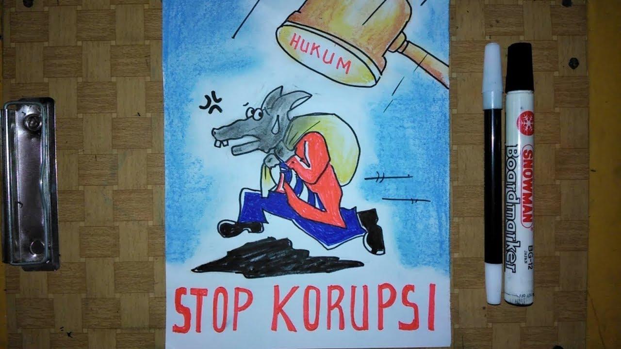 Cara Membuat Poster Tema Anti Korupsi Mudah Dan Simple Banget