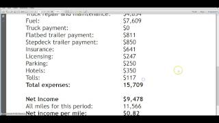 OWNER-OPERATOR'S PAY: January 2014