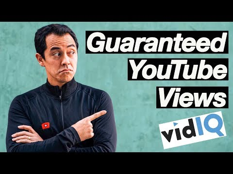 Guaranteed YouTube Views and the best Tool to Help do that! (VidIQ Tutorial)