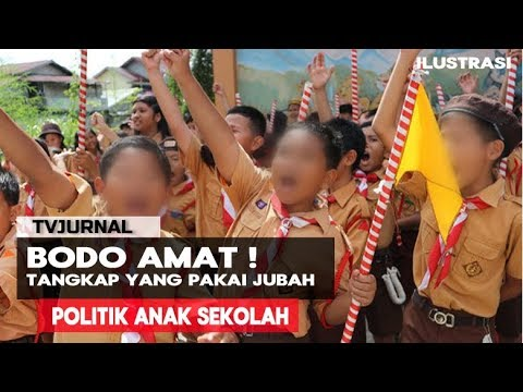 BODO & BEDEBAH ! Anak SD dibawa Ke Politik , Baju JUBAH Tangkap Pak Polisi