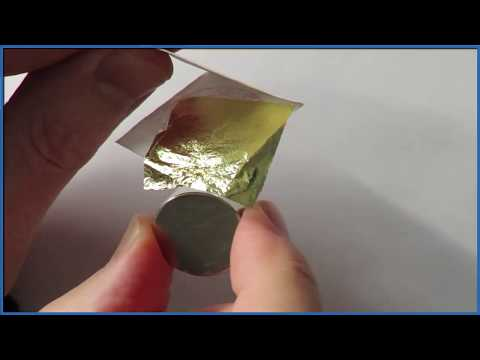 Is Gold Magnetic?  Testing With 24K Gold Leaf And A Neodymium Magnet