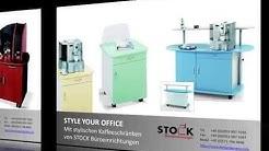 Der mobile Kaffeeschrank Kaffeetheke Bürotheke Büroschrank für Kaffeemaschinen mit Kühlschrank