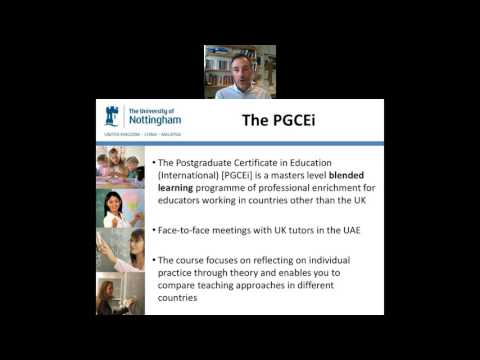 University of Nottingham PGCEi Middle East Webinar - July 12, 2017