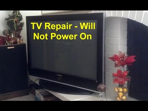 TV repair, clicking and will not power on, loud snap, no picture, etc  -  VOTD