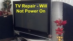 TV repair, clicking and will not power on, loud snap, no picture, etc. - VOTD