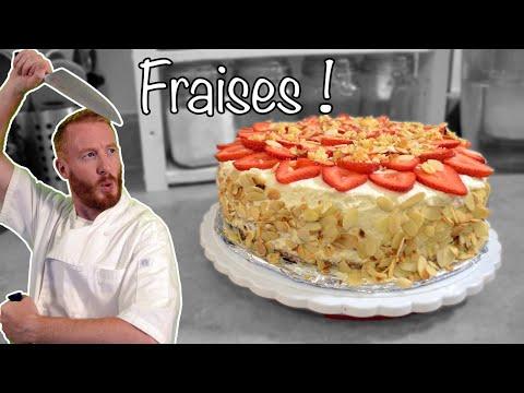 marquise-aux-fraises-à-la-chantilly-🍓[recette-~-facile]-🍰