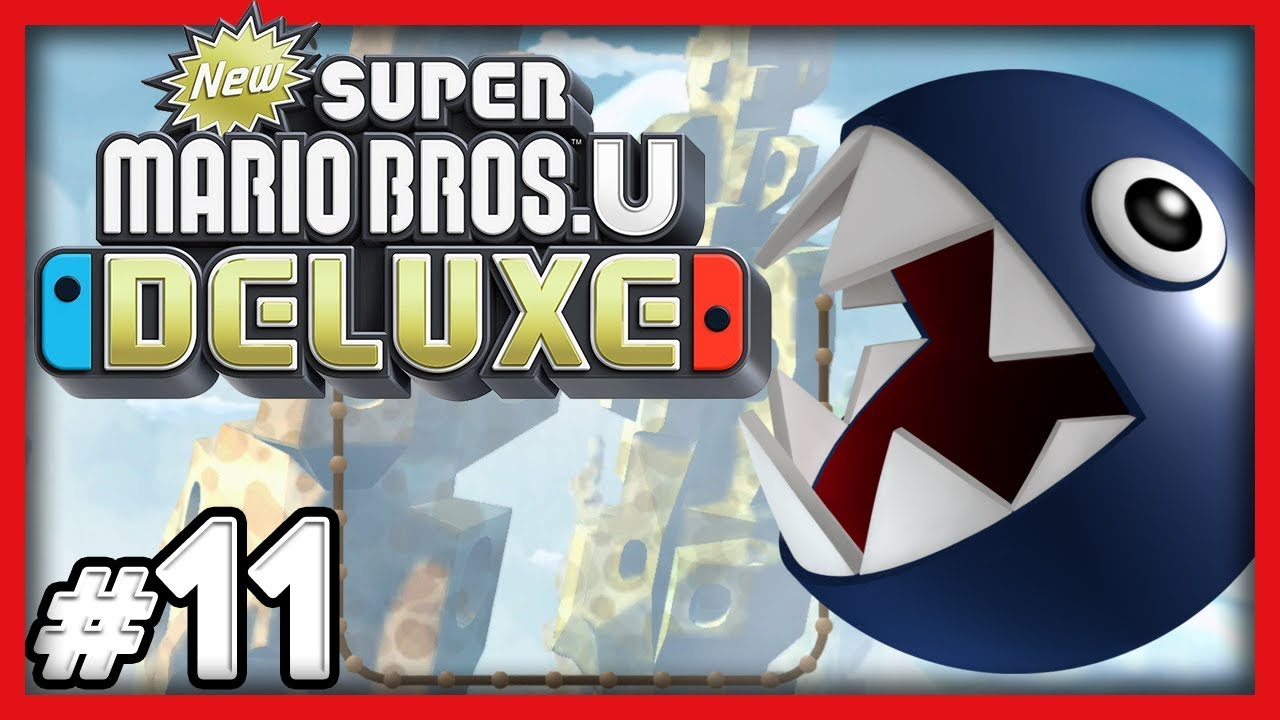 New Super Mario Bros U Deluxe - #11 - FREE THE CHAIN CHOMPS! (4 Player  Switch Gameplay)